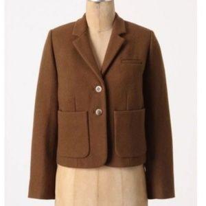 Cartonnier Kentfield Wool Blend Crop Blazer